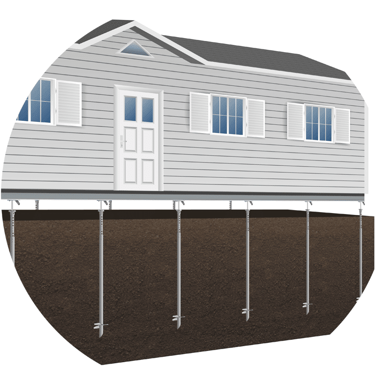 Manufactured Mobile Home Foundation Helical Piles
