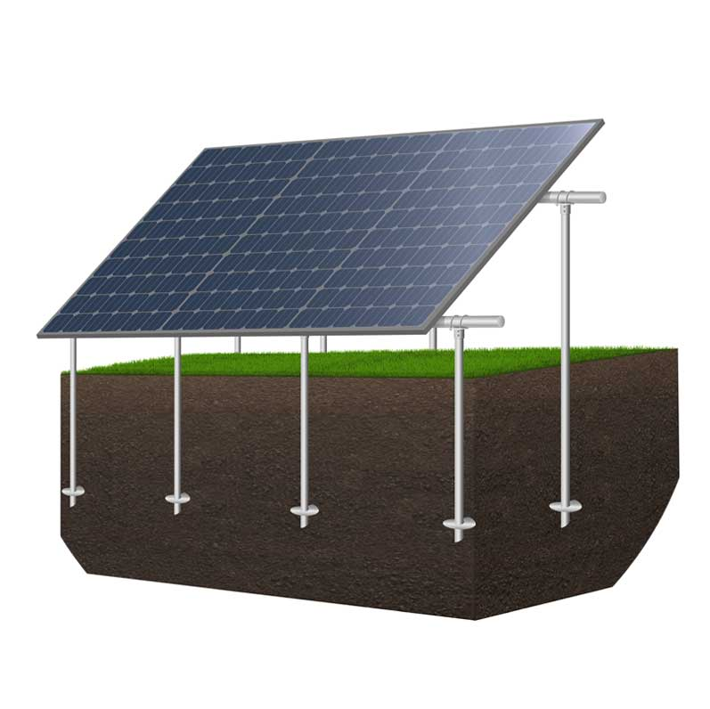 Solar Panel Installation with Helical Piles